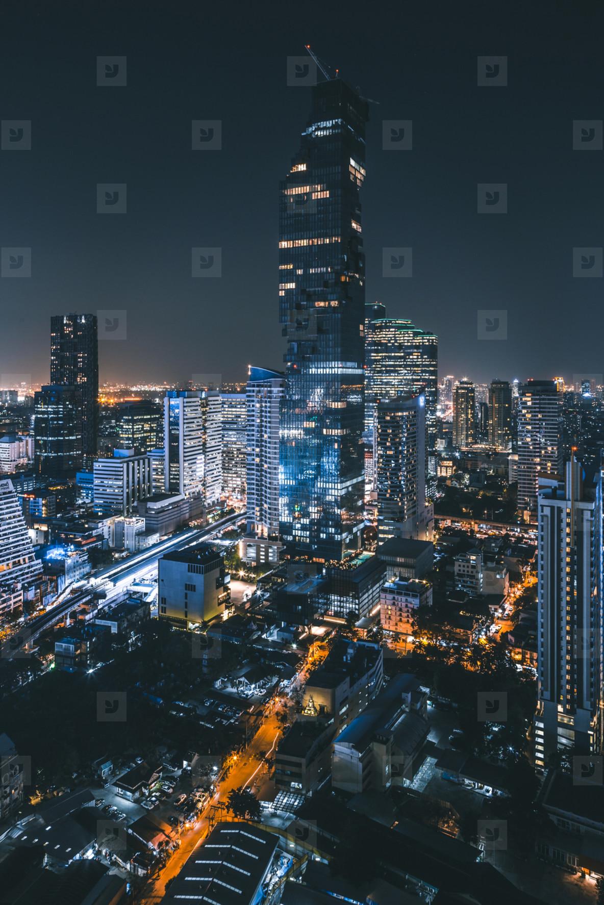 Mahanakhon at night