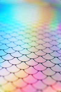 An amazing and vibrant macro of iridescent surface with scale te