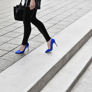 Electric blue shoe