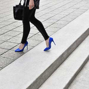 Electric blue shoe