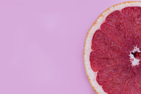 Minimal food pink grapefruit healthy fruit color background
