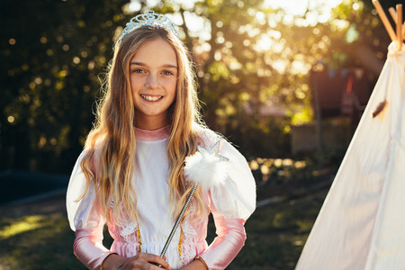 Cute young girl in fairy costume