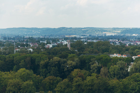 Views of a forest near to bavarian city of Landshut in Germany