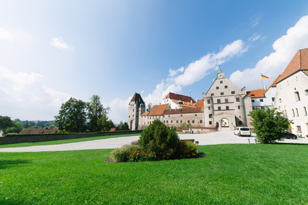 Views of the Trausnitz castle in the German city of Landshut