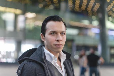 Modern ethnic man on street
