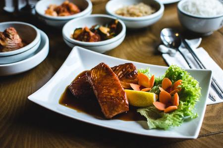 Korean fried salmon