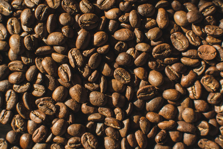 Lightly roasted coffee beans