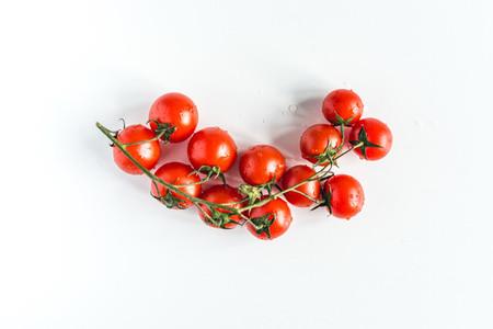 Ripe fresh red cherry tomatoes