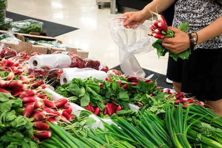 Shopping radish at market