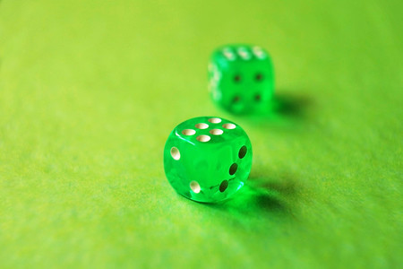 A vibrant monochromatic macro with depth of field about two gree