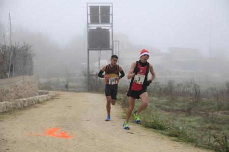PERALES DE TAJUA  SPAIN   DECEMBER 24  2018 Traditional Christmas race in Perales de Tajua  small town in Madrid  Spain  More than 500 participants