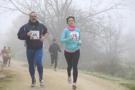 PERALES DE TAJUA SPAIN   DECEMBER 24 2018 Traditional Christmas race in Perales de Tajua small town in Madrid Spain More than 500 participants