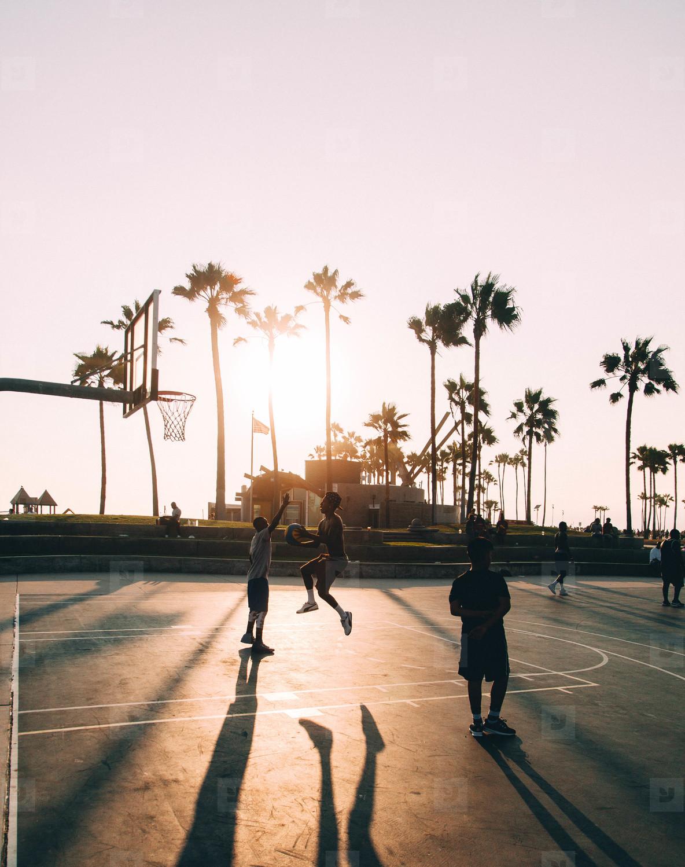 Basketball on Venice Beach