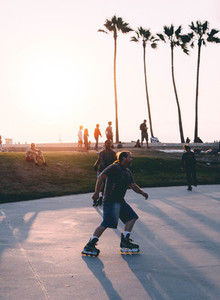 Rollerblading in California