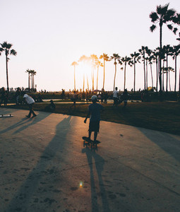 Skateboard in California