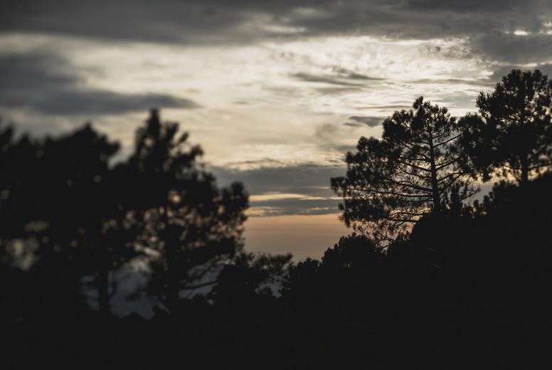 Sunset sky in remote landscape