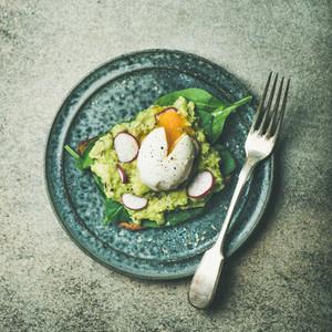 Healthy vegetarian gluten free breakfast avocado toasts square crop