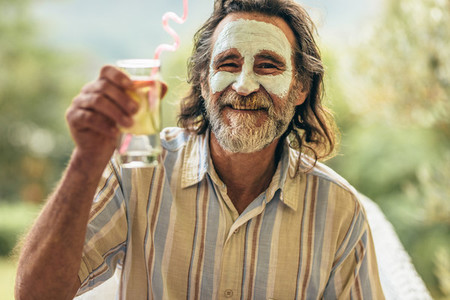 Man taking care of his own at retirement