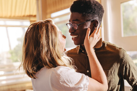 Beautiful interracial couple in love