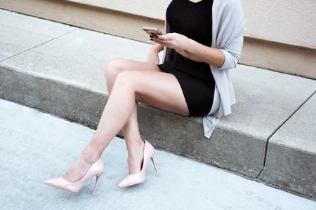 Woman in Heels Sitting