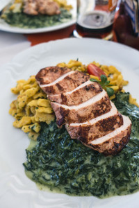 Chicken breast with spinach