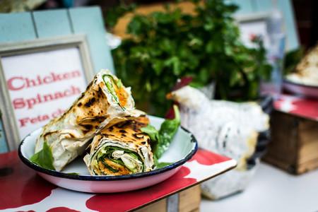 Chicken spinach feta cheese wra
