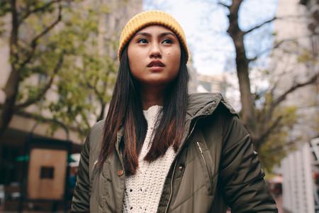 Portrait of a asian woman