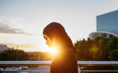 Arabic woman runner outdoors