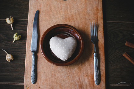 Charming gift for Valentines Day on a lunch