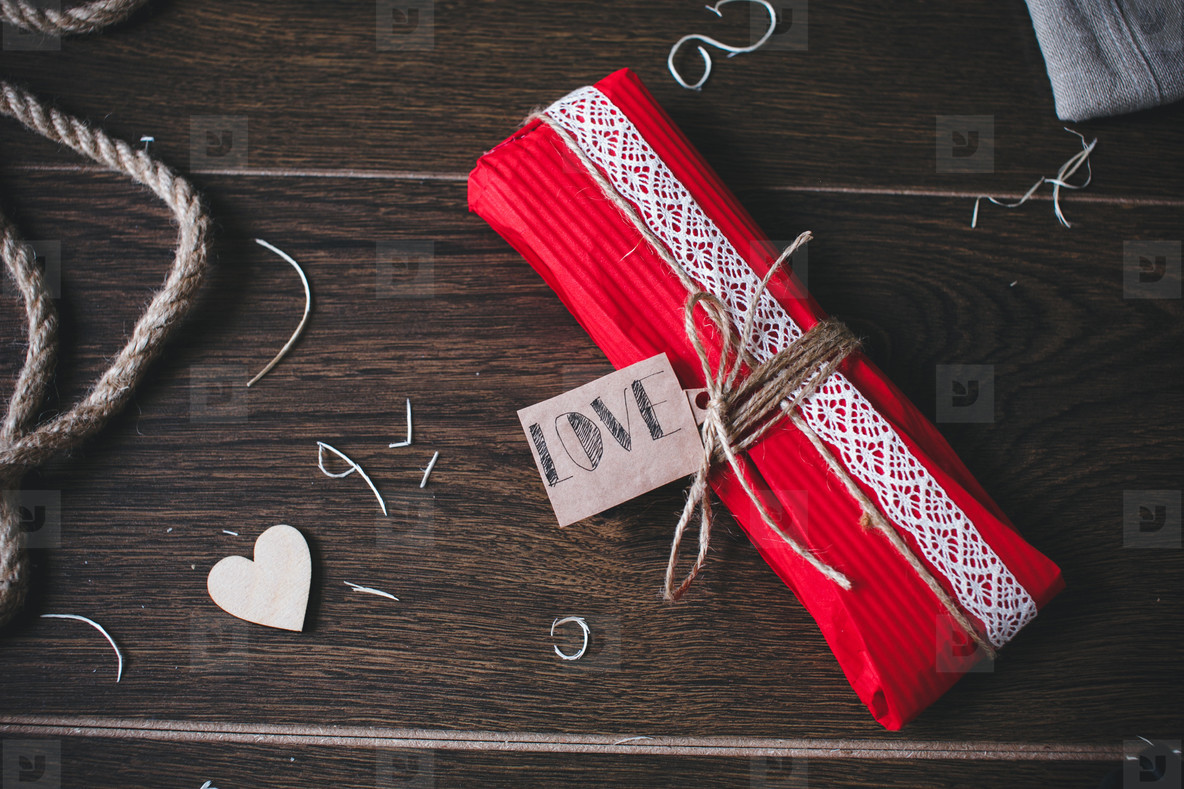 Charming gift for Valentines Day  Designed in rustic style