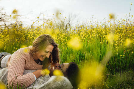 Loving couple spending beautiful time together