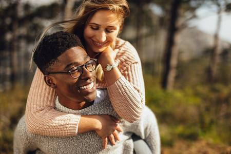 Romantic couple enjoying themselves outdoors
