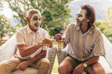 Senior men enjoying their retirement