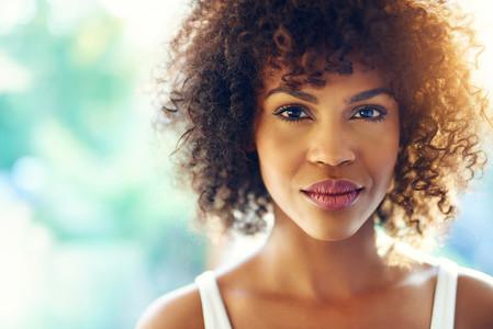 Charming black woman