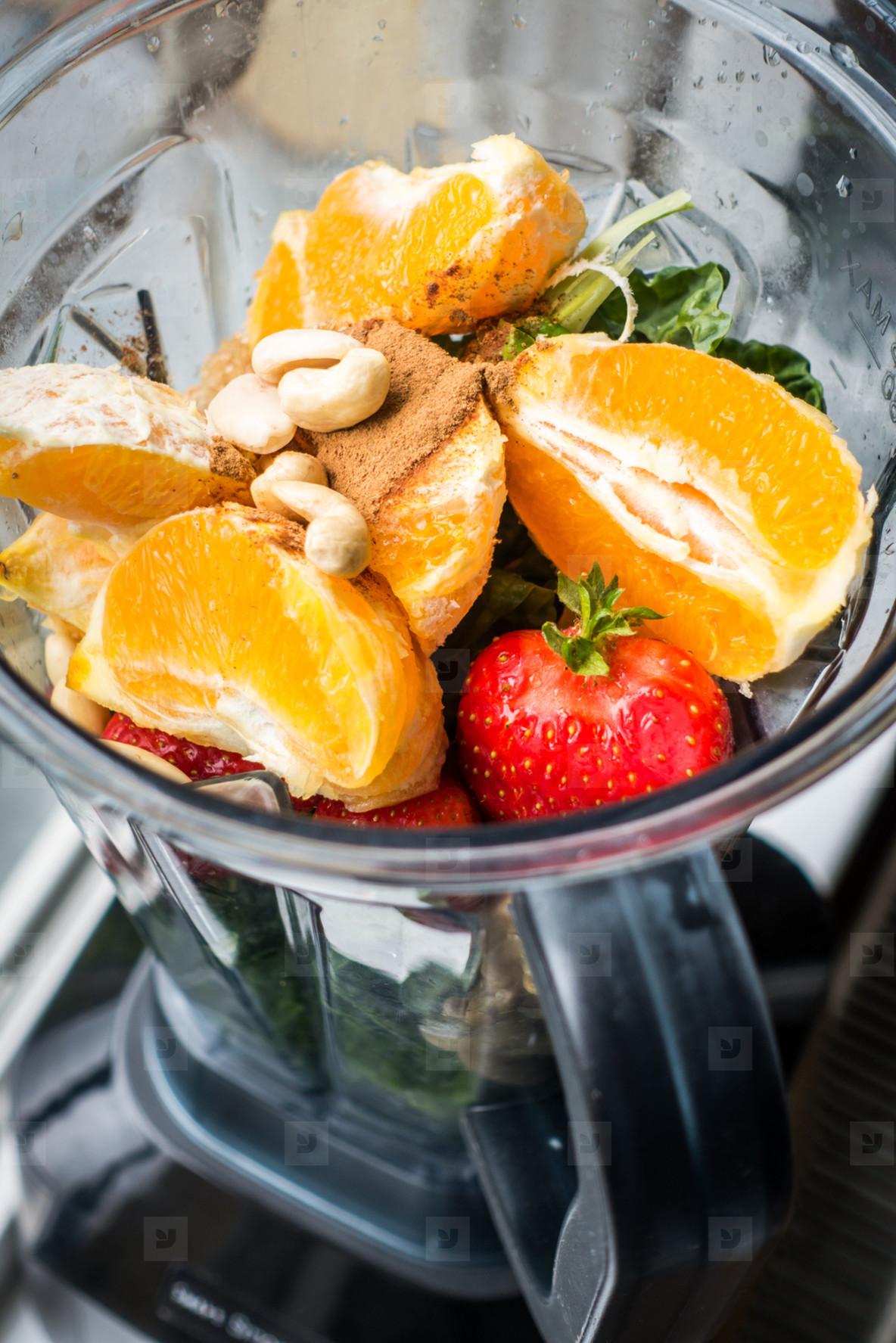 Orange and strawberry smoothie
