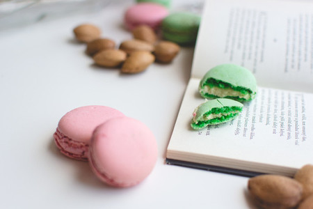 Sweet pause with macarons