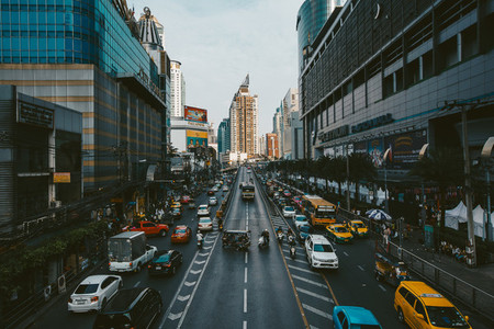 Traffic road at Bangkok