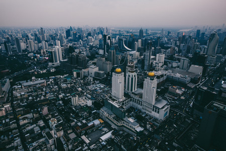 Top views skyline at Bangkok