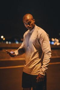 Fintess man taking break after workout
