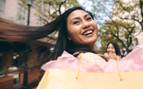 Close up portrait of a smiling asian woman