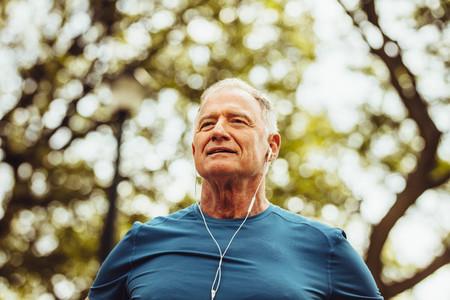 Portrait of a senior man in fitness wear
