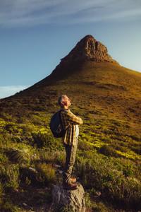 Man enjoying the beauty of nature