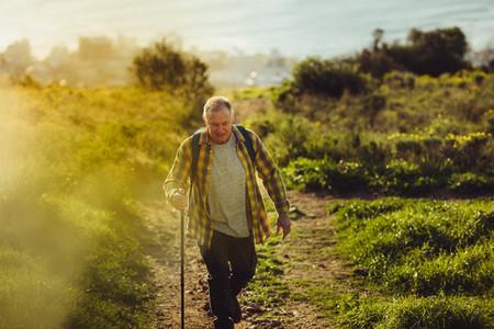 Senior man pursuing his adventure dreams