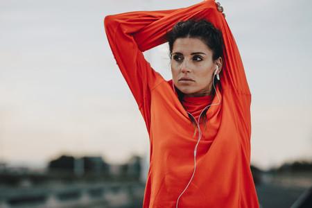 Fitness woman taking break after workout