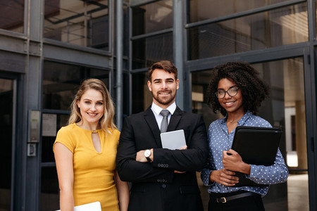 Team of young business professionals