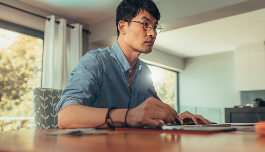 Professional architect working at his desk