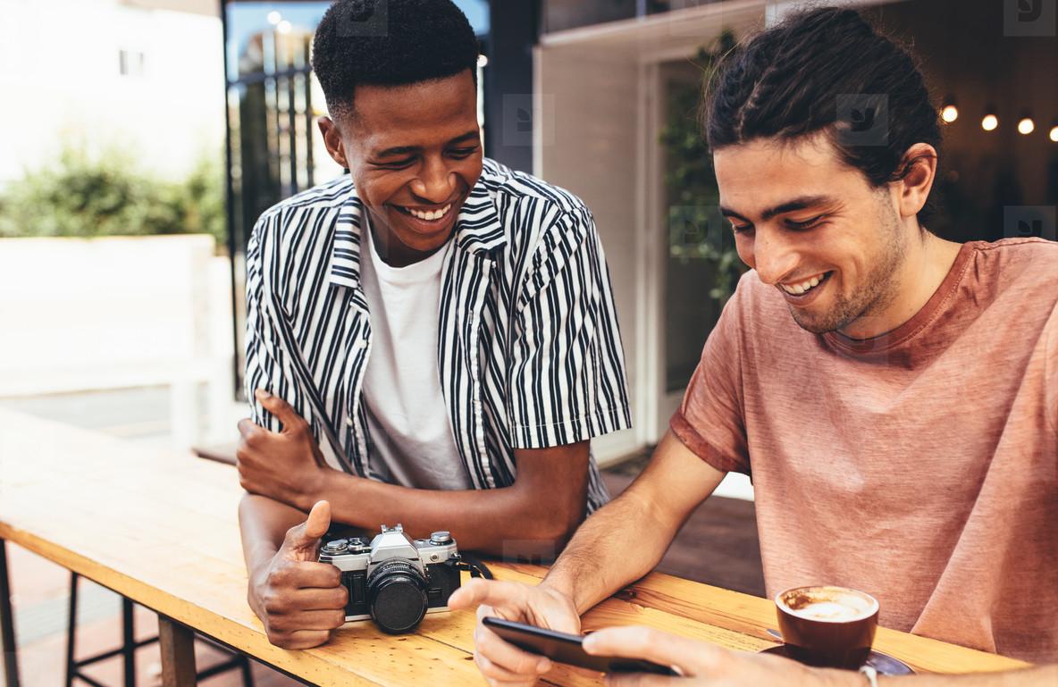 Creatives meet up at a cafe