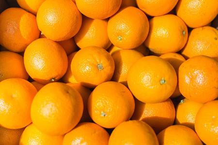 Shiny oranges aerial