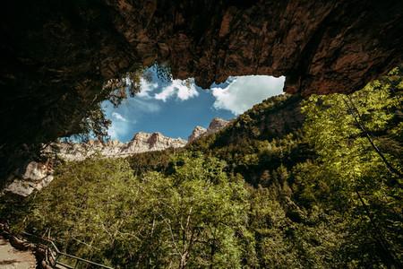 View of pelay faja  Ordesa National Park  Aragon  Pyrenees