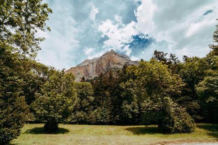 View of gallinero wall  Ordesa National Park  Aragon  Pyrenees